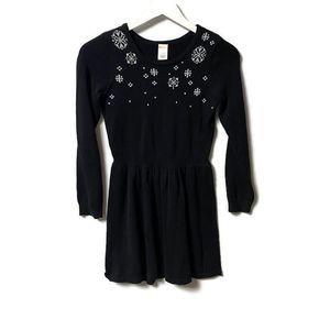 Gymboree Holiday Black Silver Snowflake Dress 10